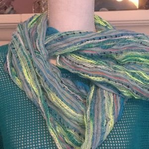 Beautiful nubby infinity scarf  gorgeous colors
